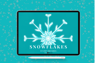 Snowflake Stamp Brushes for Procreate