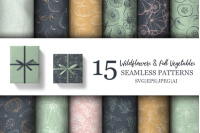 Wildflower & Fall Vegetable Patterns