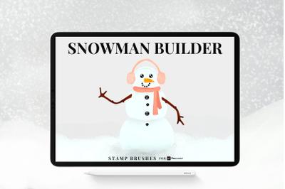 Snowman Builder Brushes for Procreate