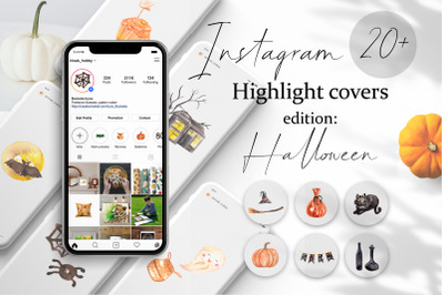 Instagram Story Highlight Icons. Halloween edition. JPEG Covers