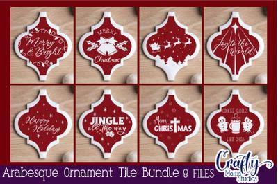 Arabesque Tile Ornament Svg, Christmas Svg