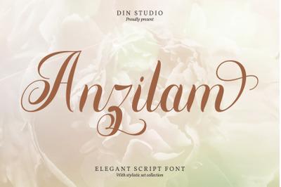 Anzilam-Modern Calligraphy Font