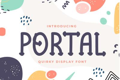 Portal - Quirky Display Font