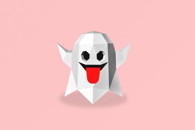 DIY Halloween Ghost - 3d papercraft