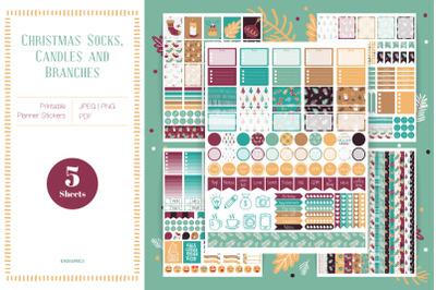 PRINTABLE Winter Planner Stickers for Erin Condren Vertical