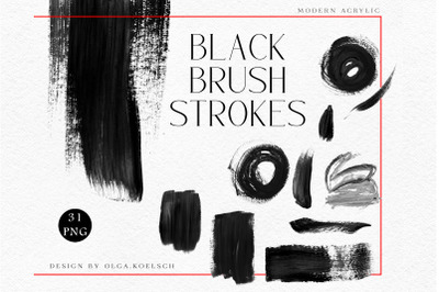 Black brush strokes design shapes, Black Friday templates, black png