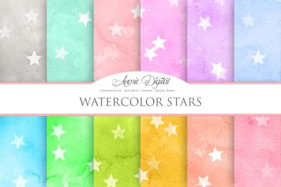 Watercolor Star Textures