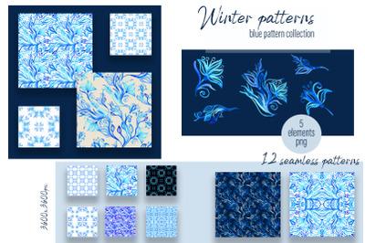 Winter blue digital paper