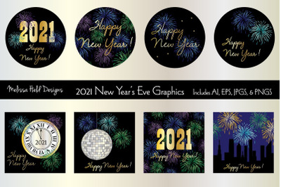 2021 New Year's Eve Graphics
