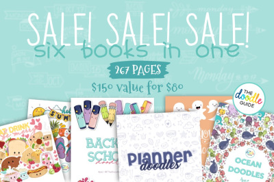SALE - Six in One Doodle Booklets