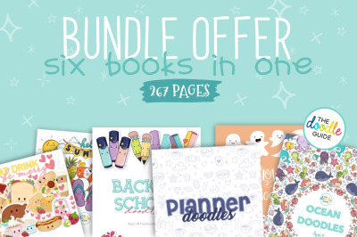 Bundle Offer - Six doodle books in one