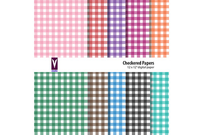 Checkered Papers - printable