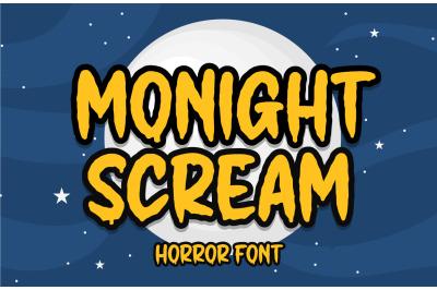 Monight Scream | Helloween Font