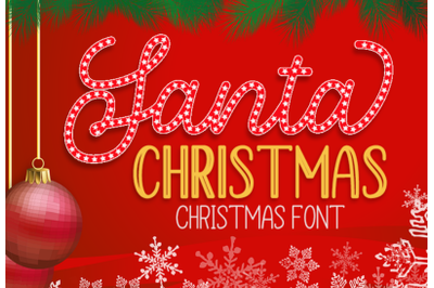 Santa Christmas - A Cute Holiday Font