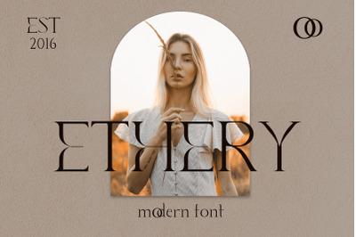 Ethery. Modern Serif Font.