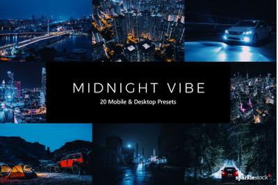 20  Midnight Vibe LR Presets