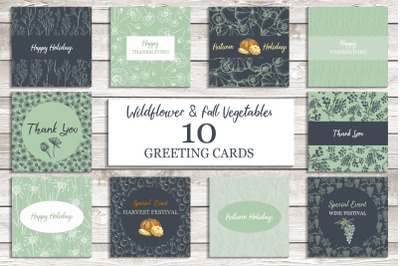 Wildflower & Fall Vegetable Cards