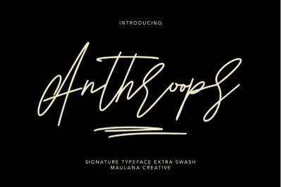 Anthroops Signature Typeface Extra Swash