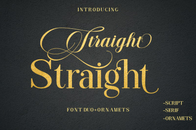 Straight Font Duo+Ornament