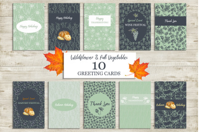 Fall Holidays Cards
