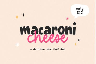 Macaroni Cheese Font Duo