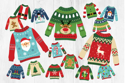 Ugly Christmas Sweaters PNG, Ugly Sweaters, Tacky Sweaters