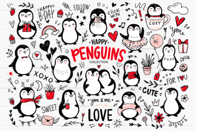 Cute penguins collection.