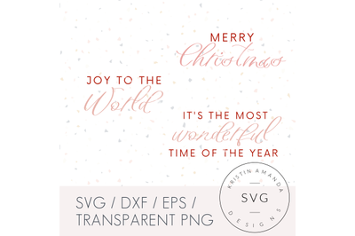Modern Farmhouse Christmas Bundle SVG DXF EPS PNG Cut File  Cricut  Si