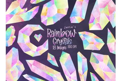 Watercolor Rainbow Crystals Set