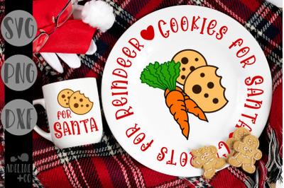 Cookies for Santa, Carrots for reindeer, Christmas plate