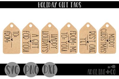 Farmhouse gift tags, Christmas