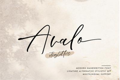 Avalo Handwritten Font