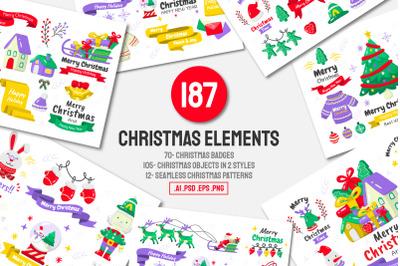 187 Christmas Elements