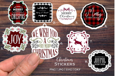 Christmas svg|  Stickers or Tags |  SVG, PNG (for cricut)