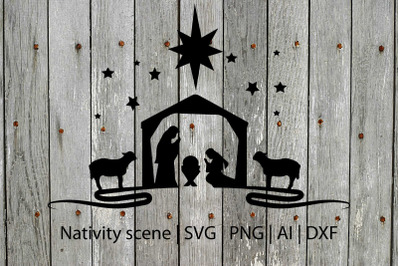 Nativity SVG, Christmas SVG, Holiday SVG, Holiday cut file,