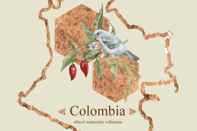Colombia. Watercolor collection.