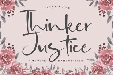 Thinker Justice Modern Handwritten Font