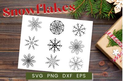 Christmas Snowflakes SVG Set