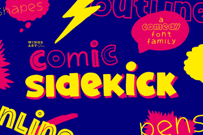 Comic Sidekick: A Comedy Font Family!