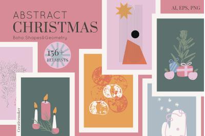 Abstract Vintage Christmas Boho