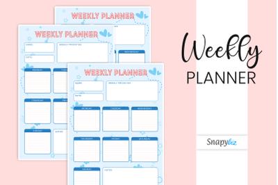 Weekly Planner | Printable