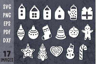Christmas ornament svg Christmas ornament bundle Laser cut files