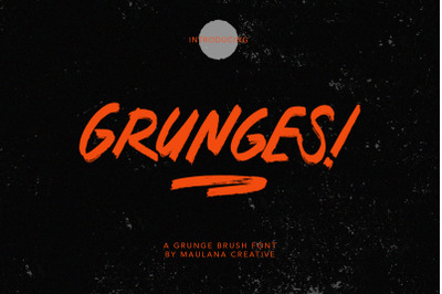 Grunges Grunge Brush Font