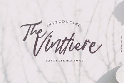The Vinttiere Handstylish Font