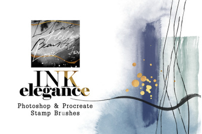 Ink Elegance - Photoshop and Procreate Stamps