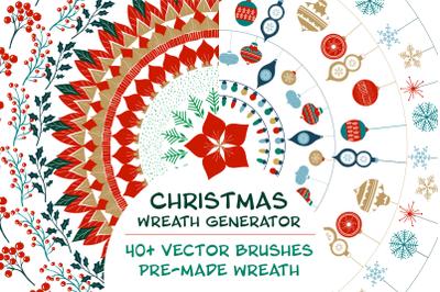 Christmas wreath generator