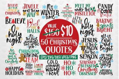 Mega Christmas Bundles - 50 SVG PNG EPS DXF JPG Design