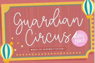 Guardian Circus Monoline Handwritten Font