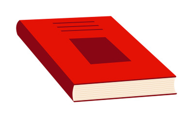 Red book. Flat vector illustration on white background.