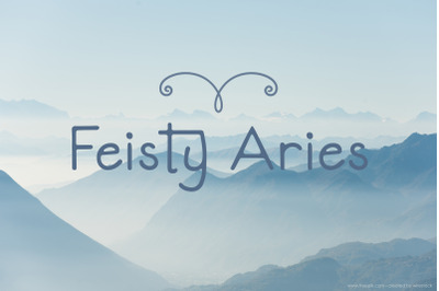 Feisty Aries Font | Smooth Hand Lettering | Multilingual & Ligatures